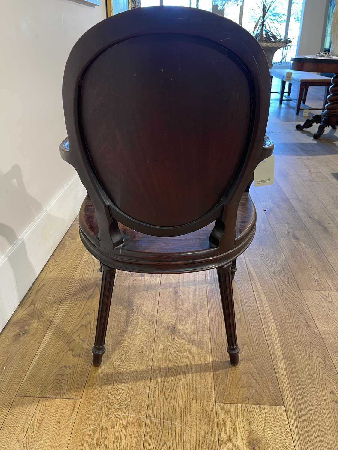 A pair of mahogany hall chairs, - Image 60 of 119