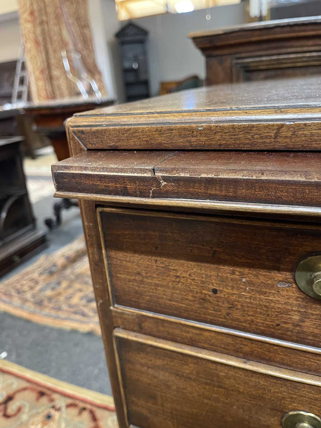 A George III mahogany caddy-top chest of drawers, - Image 8 of 48