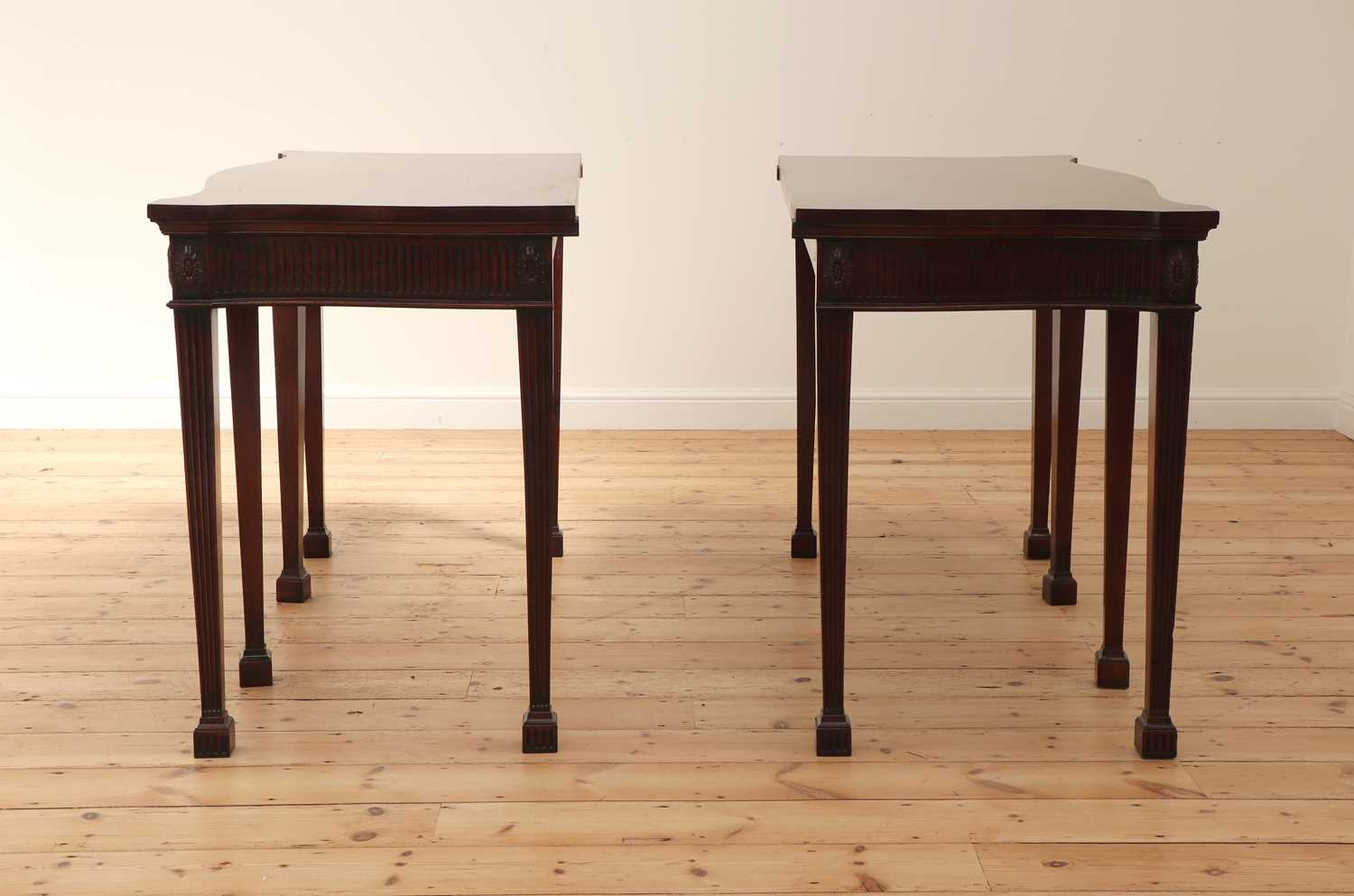 A pair of mahogany console tables, - Image 4 of 10