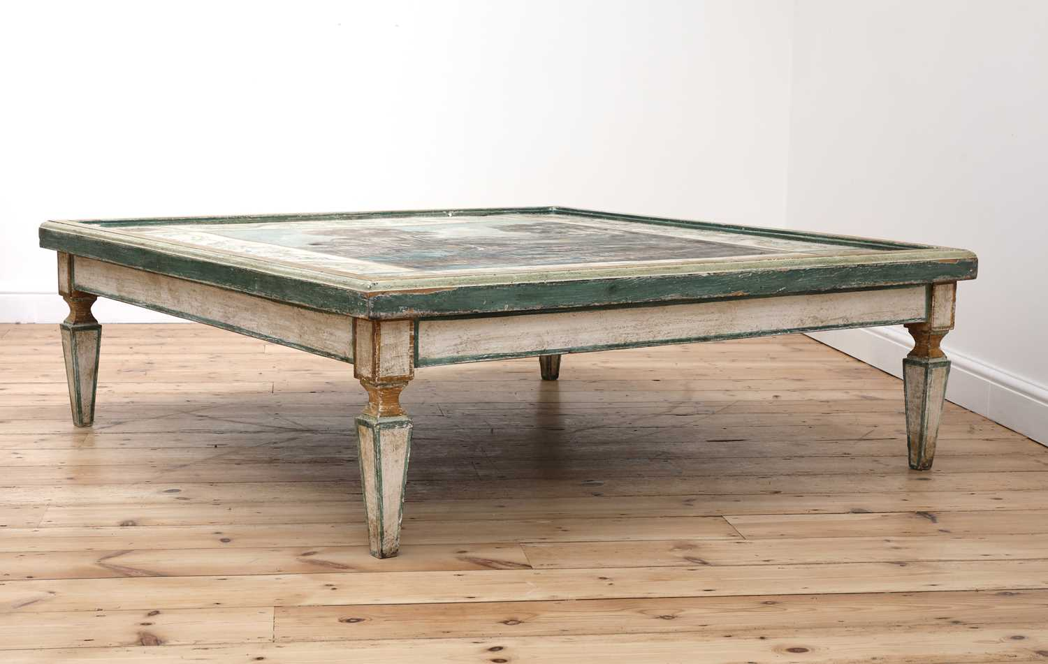 A large Continental painted wood coffee table, - Image 2 of 9
