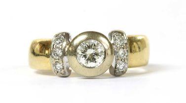 An 18ct gold diamond ring,