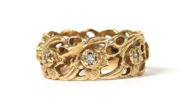 A 14ct gold diamond set 'The Welsh Gold Full Eternity Ring', designed by Stuart Devlin,