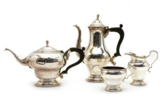 A four piece silver tea and coffee service,