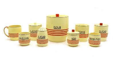A collection of Mintons Art Deco kitchen ware,