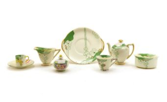 A collection of Royal Doulton Glamis pattern teawares,