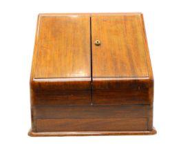 An Edwardian mahogany stationary cabinet,
