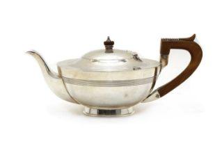 An Edward VII silver teapot,