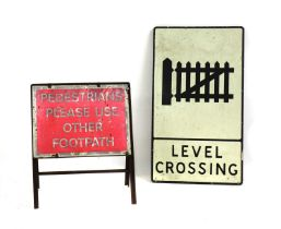 Two metal signs,