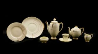 A collection of Royal Doulton part tea and coffee wares,