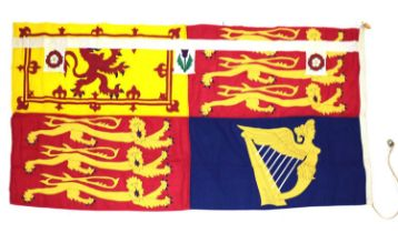 HM Queen Margaret original stitched panel personal Royal Standard,