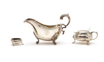 A silver table salt,