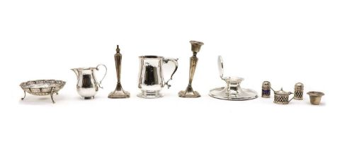 A collection of silver items