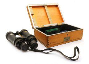 A Royal Navy & RAF Coastal Command Barr & Stroud CF42 7X cased binoculars