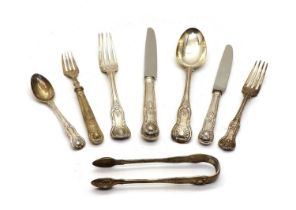 A quantity of various Kings pattern silver cutlery,