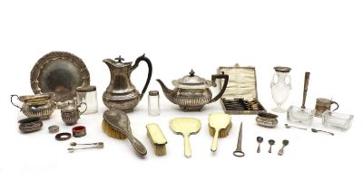 A collection of silver and silver plate,