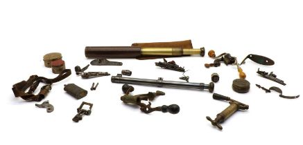 A 'Ranger 55' brass cased four draw telescope,