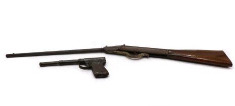 A vintage 'Garanla' tin plate air pistol,