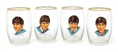 A set of The Beatles glasses,