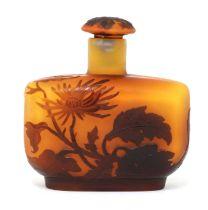 A Gallé cameo glass scent bottle,