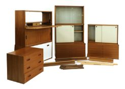 A collection of Beaver & Tapley modular floating wall units,
