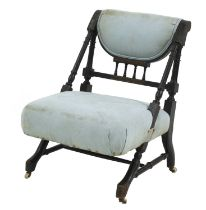 An Aesthetic Movement ebonised side chair,