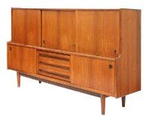 A Danish rosewood highboard, §