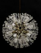 An Austrian Rupert Nikoll 'Dandelion' or Sputnik chandelier,