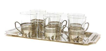 An Austrian Secessionist silver-plated tea service,
