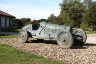 *A Bugatti Type 35 sculpture,