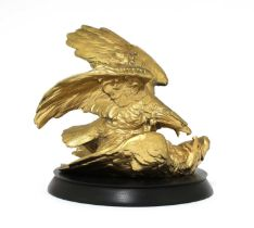 An Austrian gilt-bronze eagle group,