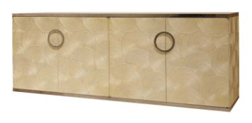 A contemporary sideboard,