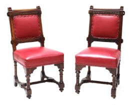 A pair of Gothic Revival chairs,