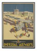 'Imperial Airways' poster,