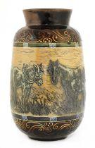 A Doulton Lambeth stoneware vase,