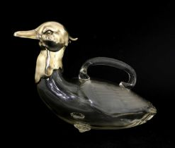 A WMF silver-plated glass decanter,