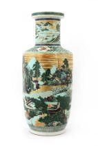 A Chinese famille verte vase,