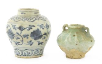 A Chinese blue and white jarlet,