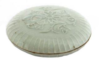 A Chinese qingbai box and cover,