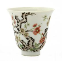 A Chinese famille rose cup,