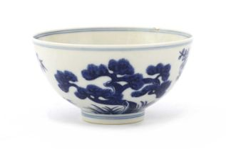 A Chinese blue and white bowl,