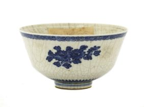 A Chinese blue and white soft-paste bowl,