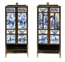 Two Chinese umbrella stands,