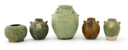 A Chinese earthenware jar,