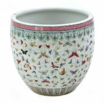 A Chinese famille rose fishbowl,