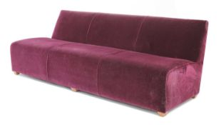 An Art Deco style three-seater settee,
