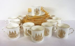 A 12-place Royal Worcester fine bone china coffee service; commemorating the marriage of HRH