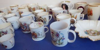 A good collection of Royal commemorative ware; to include 27 mugs/cups and four cup, saucer and