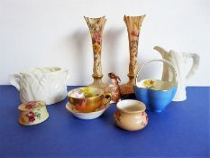 A good selection of mostly early 20th centurysmall ceramics to include Royal Worcester Blush
