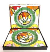 Clarice Cliff Collector's Club - 'The Art of Bizarre - 2000 Collection': a pair of boxed ceramic