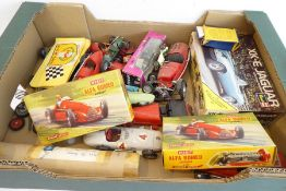 Various model racing cars including made, unmade, and boxed models other similar items etc. also